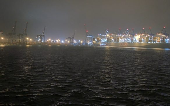 View of the container terminal