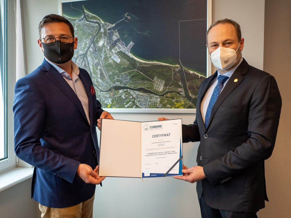 The Port of Gdańsk is the first port in Poland to receive a PRS certificate